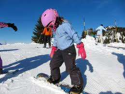 snowboarding child