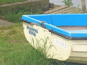 Boat name on River Yare