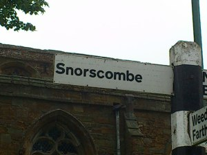 Or worst village name? Taken in pouring rain, never noticed bottom right corner!