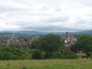 View over Ludlow, at bottom of 2 and half mile climb