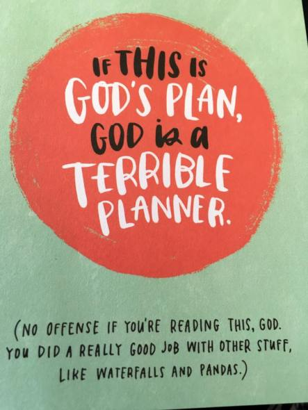 God's terrible plan